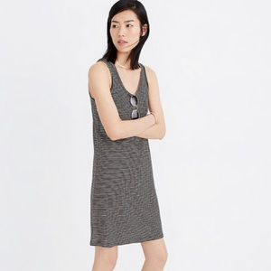 Madewell Striped Scoop-neck Knit Dress